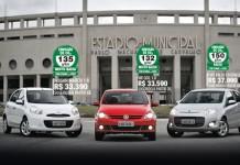 Nissan March, VW Gol e Fiat Palio