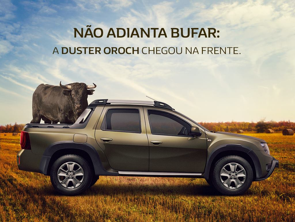 duster oroch provoca fiat toro em propaganda na internet motor show. Black Bedroom Furniture Sets. Home Design Ideas