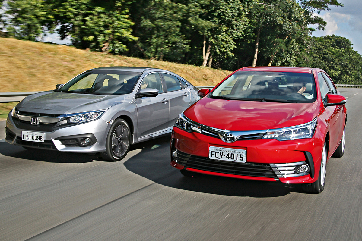 Toyota Corolla Vs Honda Civic >> Comparativo Honda Civic Vs Toyota Corolla Motor Show