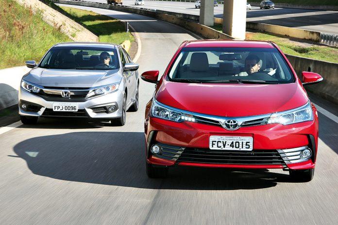 Honda Civic e Toyota Corolla