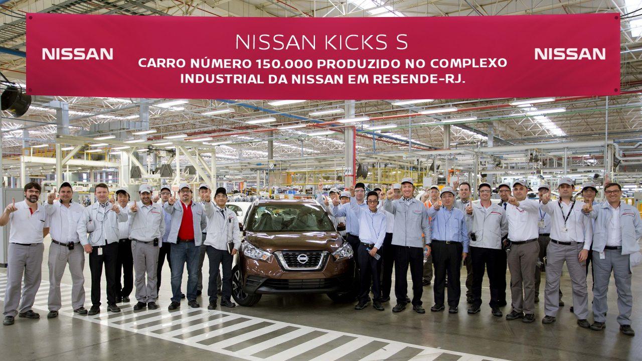 41a3a26d7 Nissan atinge marca de 150 mil carros produzidos em Resende (RJ ...
