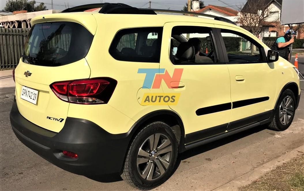 Chevrolet Spin 2019 é flagrada sem camuflagem na Argentina ...