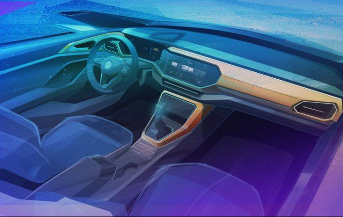 VW revela esboço do interior do SUV T-Cross - Motor Show