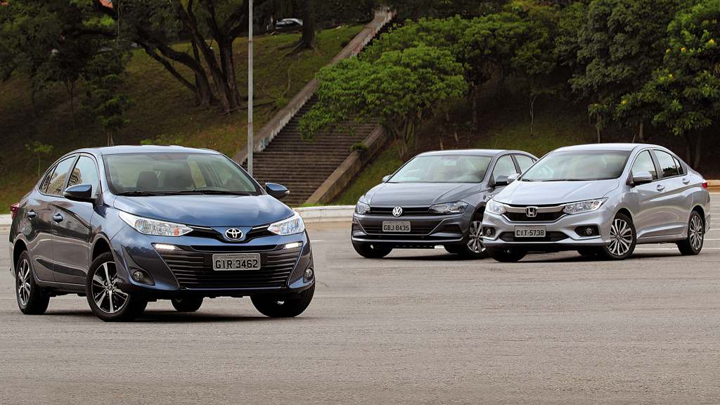 Comparativo Toyota Yaris Vs Vw Virtus Vs Honda City