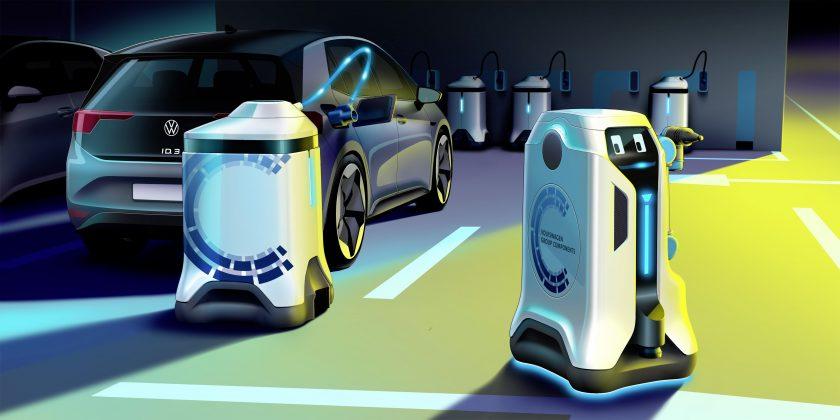 Volkswagen anuncia robô autônomo para carregar carros elétricos
