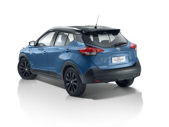 O Nissan Kicks UEFA Champions League vem com o motor de última geração 1.6, que desenvolve 114 CV e câmbio Xtronic CVT