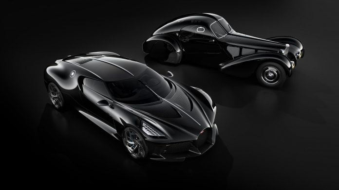 Bugatti La Voiture Noir (o carro mais caro do mundo) e Atlantic Type 57