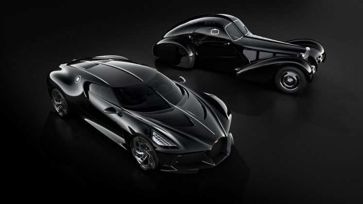 Bugatti La Voiture Noir (o carro mais caro do mundo) e Atlantic Type 57