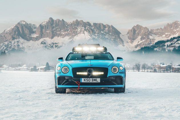 O modelo que vai deslizar pela pista de gelo do 2020 GP Ice Race é semelhante ao Bentley que bateu recorde na Pikes Peak International Hill Climb em 2019