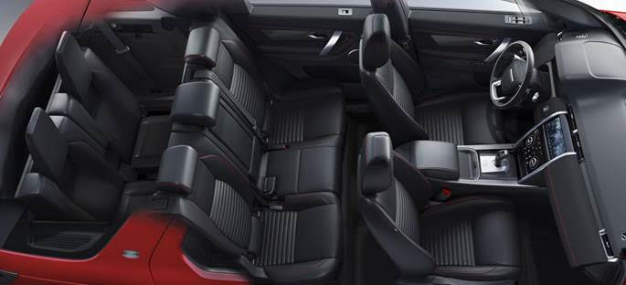 Interior do Land Rover Discovery 2020