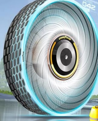 O pneu recarregável e que nunca fura, imaginado pela Goodyear