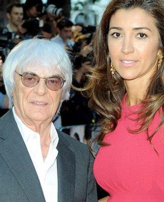 Bernie Ecclestone é casado com a brasileira Fabiana Flosi, 44. e será pai pela quarta vez.