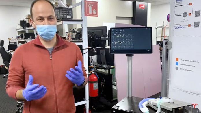 Engenheiro da Tesla apresenta o respirador construído com peças do Model 3