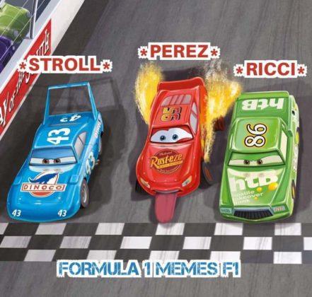 Imagem aérea da última volta de Sergio Perez no GP da Estíria