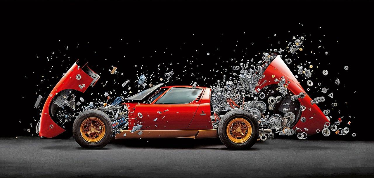 desintegrar um carro