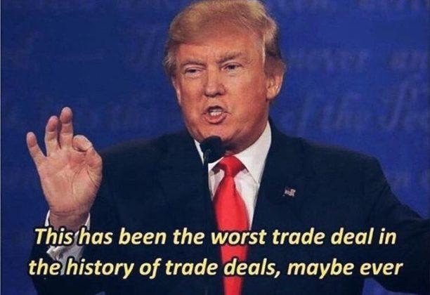 """Presidente americano Donald Trump comentou a transferência de Sainz para a Ferrari: """"a pior troca na história das piores trocas...."""""""