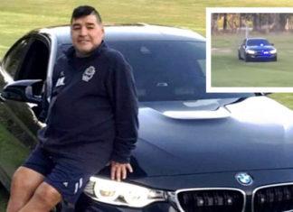 Morre Maradona: o craque em seu BMW M4 Coupé avaliado em R$ 1 milhão e equipado com sirene