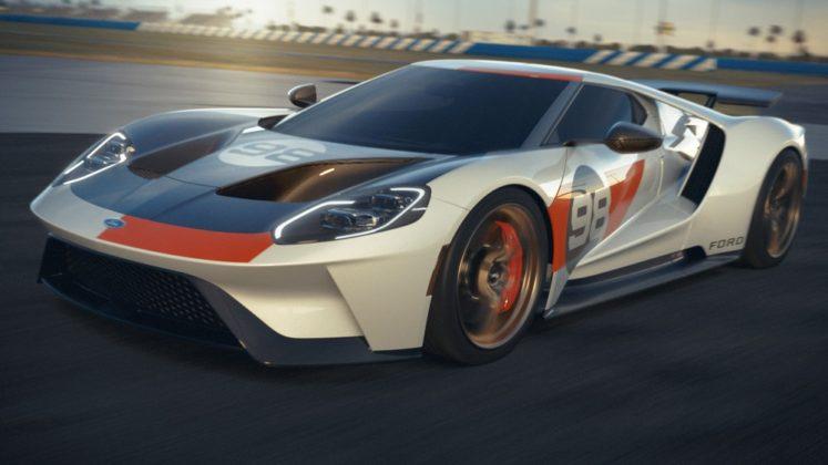 O Ford GT Heritage que será lançado em 2021 como homenagem à vitória em Daytona em 1966