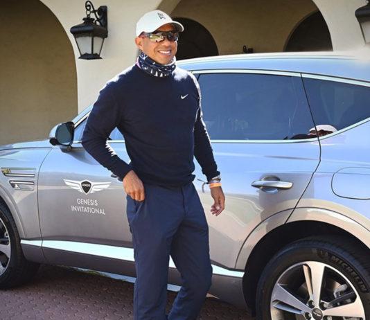 Tiger Woods chegou a postar uma foto com seu Genesis GV80, o carro com o qual sofreu acidente