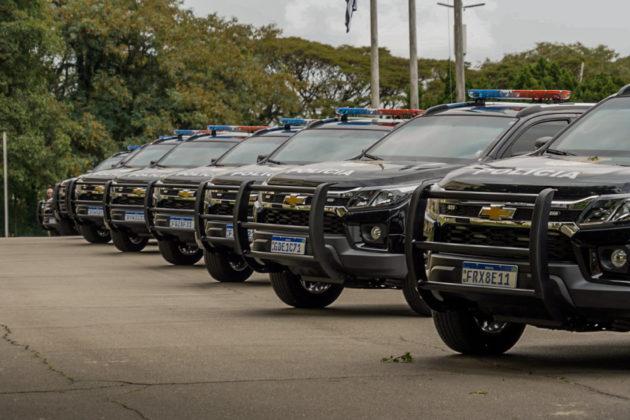 Dos 105 veículos, 37 serão destinados a unidades especializadas da Polícia Civil na capital